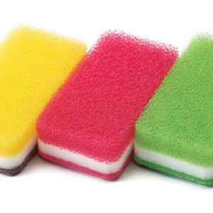 台所用スポンジ3色セット抗菌タイプS