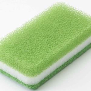 台所用スポンジ抗菌タイプ<1個入グリーン>